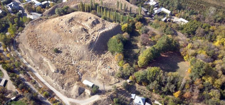Aerial visit above Akhburinskoe gorodishche